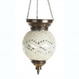 Мозаичный подвесной светильник МАРОККО, белый