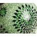 Оригинальный светильник из мозаики, зеленый