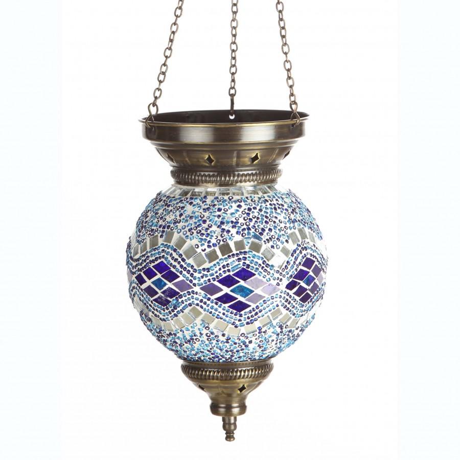 Подвесная лампа из мозаики МАРОККО, голубая