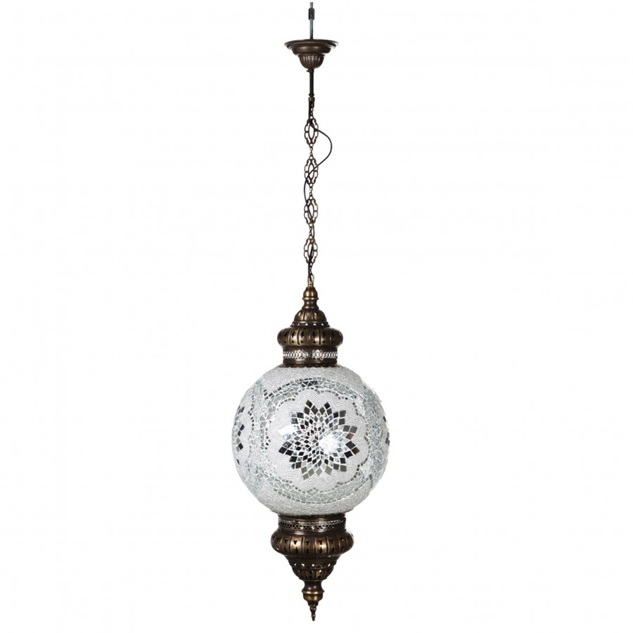 Подвесная лампа в турецком стиле, белая