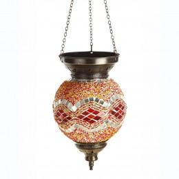 Подвесной мозаичный светильник МАРОККО, оранжевый