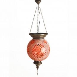 Подвесной мозаичный светильник, оранжевый