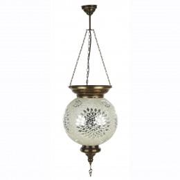 Восточная лампа из мозайки, белая