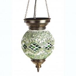 Восточный светильник из мозаики МАРОККО, зеленый