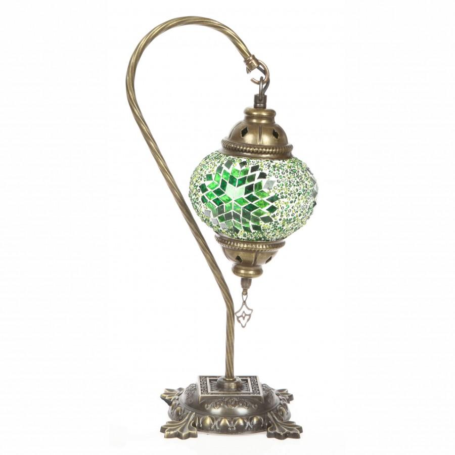 Лампа в восточном стиле, зеленая