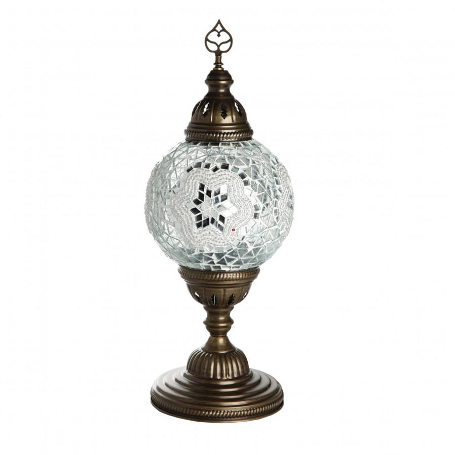 Мозаичный восточный светильник, МАРОККО, белый