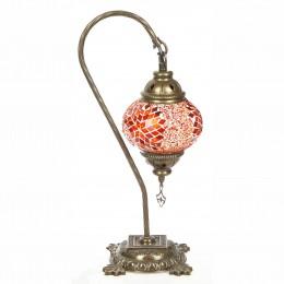 Настольная лампа из мозаики, оранжевая