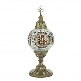 Настольный светильник из мозаики, МАРОККО, коричневый