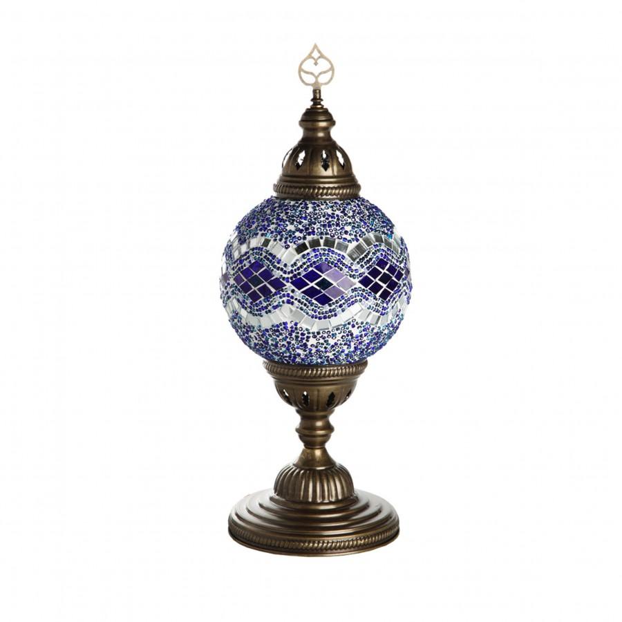 Светильник из цветной мозаики, МАРОККО, голубой