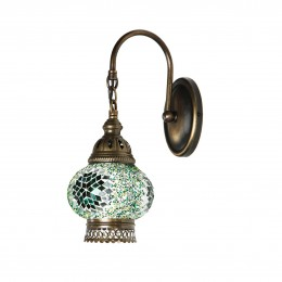 Бра из стеклянной мозаики в восточном стиле, зеленое