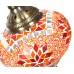Настенный светильник из мозаики, оранжевый