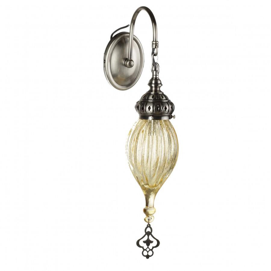 Настенный светильник в восточном стиле Алладин, золотистый