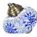 Восточное бра из мозаики, голубое