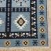 Безворсовый ковер из хлопка в этно стиле