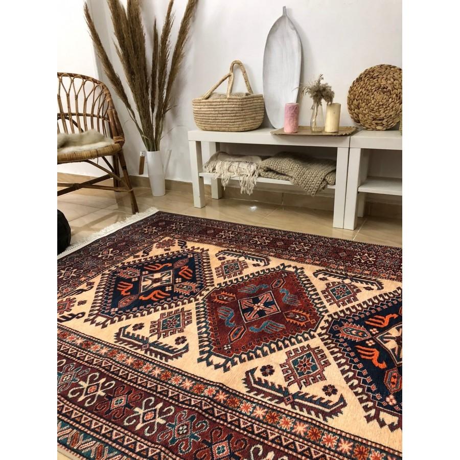 Безворсовый ковер-килим в этно стиле