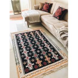 Хлопковый безворсовый ковер-килим
