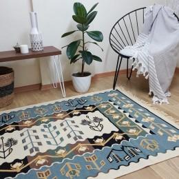 Хлопковый двусторонний коврик-килим