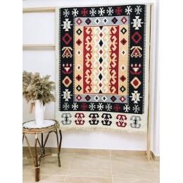 Безворсовый ковер килим из хлопка