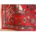 Красный безворсовый ковер в восточном стиле