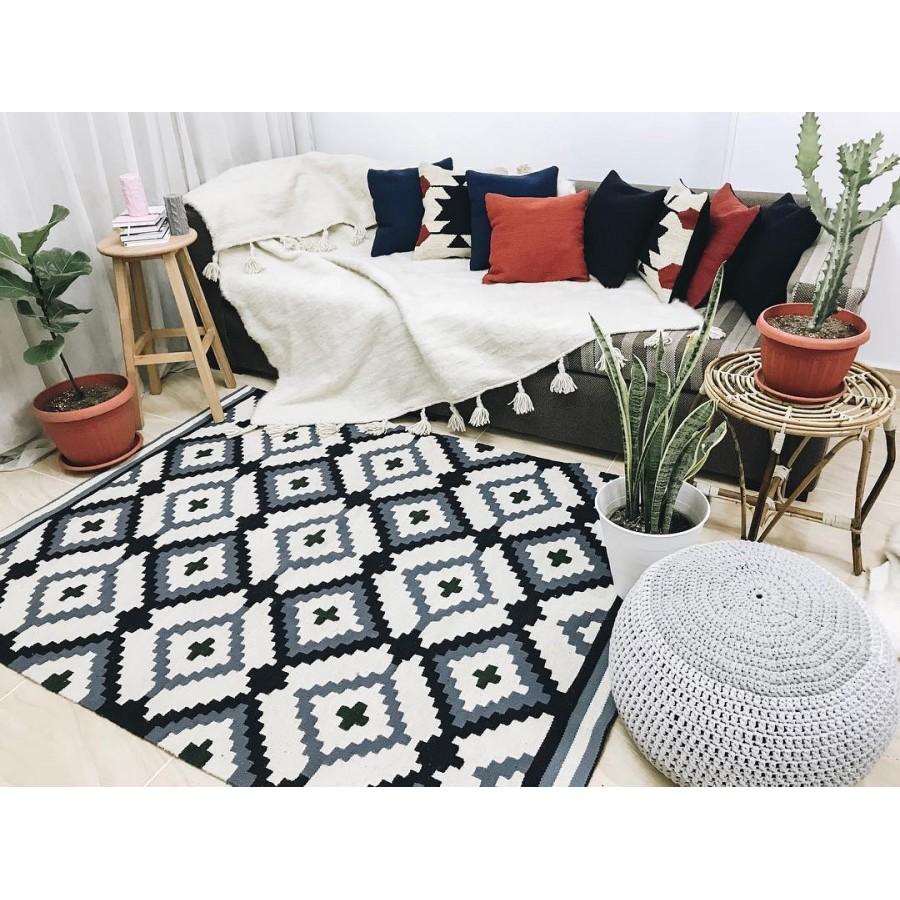 Натуральный коврик ручной работы