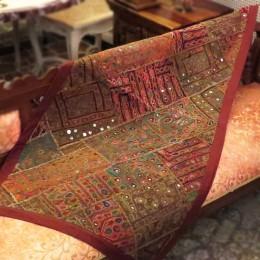 Хлопковый декоративный коврик. Индия, 60x125 см