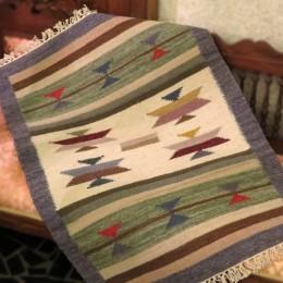Индийский ковер-килим, 64x90 см