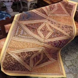 Коврик с вышивкой из Индии, бежевый, 100x150 см