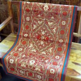 Расшитый хлопковый коврик. Индия , 70x130 см