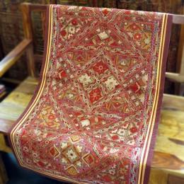 Расшитый хлопковый коврик из Индии, 70x130 см