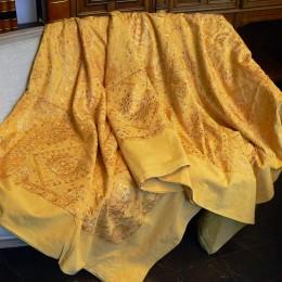 Индийский плед на кровать с вышивкой, 220х270 см
