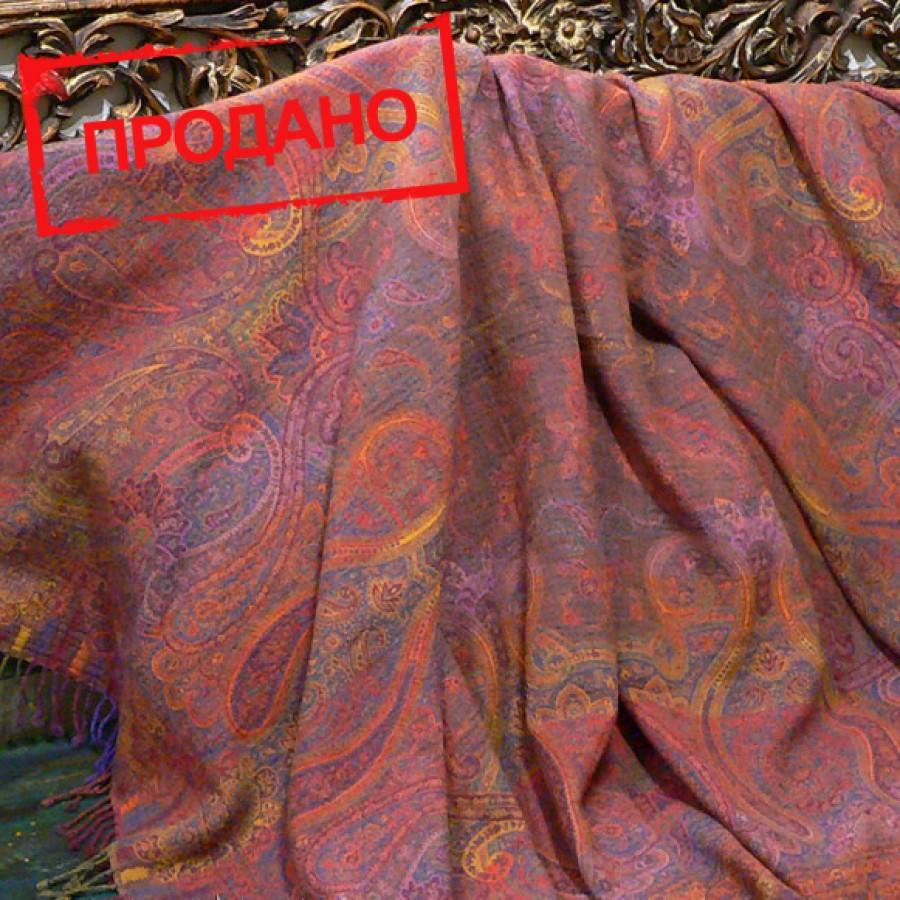 Шерстяной плед с восточным узором, 150х220 см